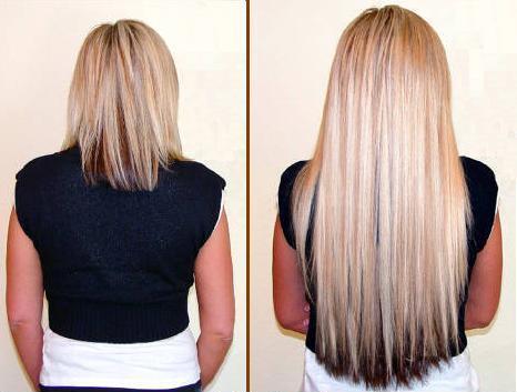 Фото волос до наращивания и после